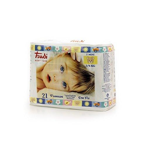 Trudi Baby Care Pannolini Dry Fit Mini da 3 a 6 Kg, Bianco, 30 Grammi