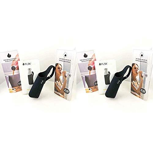 FLSK Isolierflasche Neoprentasche für 750ml isolierflaschen, Black, 1size, FL-750-NS-BLCK-011 & Isolierflasche Neoprentasche für 500ml Isolierflaschen, Black, 1size, FL-500-NS-BLCK-001