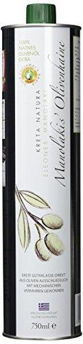 KretaNatura Natives Olivenöl extra  Kaltgepresst & Filtriert | 100% natürliches & reines Olivenöl für Feinschmecker - Kreta, Griechenland | sortenreine Koroneiki Oliven | 1er Pack (1 x 750 ml)