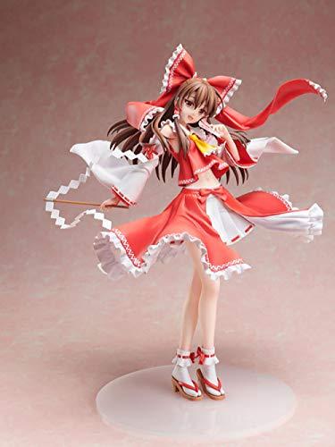 XXSDDM-WJ Muñeca Anime Figura Touhou Proyecto Hakurei Reimu Freeing B-Style PVC Figura de Acción Modelo Colección Juguetes Muñeca Regalo-0312