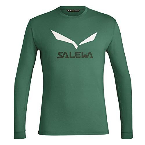 Salewa Solidlogo Dry M L/S T-Shirt pour Homme S Mélange de myrtilles