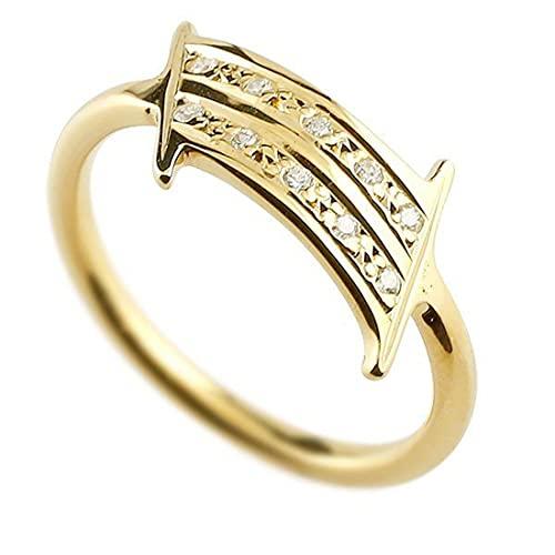 [アトラス]Atrus リング メンズ 18金 イエローゴールドk18 ダイヤモンド ナンバー1 指輪 数字 ストレート 29号