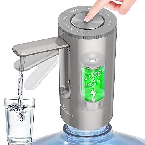 KitchenBoss-Dispensador de Agua Electrico-Bomba Agua Garrafa: Dispensador Botella Agua Portable,Carga Tipo C,para Botellas de 2-5 Galone,Dosificador agua grifo