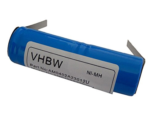 vhbw NiMH Akku 1200mAh (2.4V) für elektrische Zahnbürste von Philips wie RS-MH 3941, 2N-600AE, u.a.
