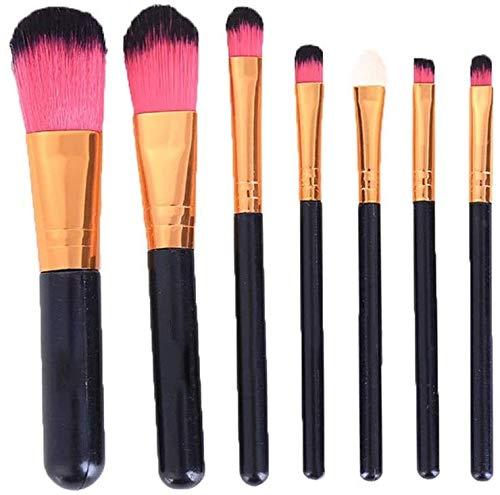WLYX Pinceau de maquillage Maquillage Mini visage Portable Brosses multi fonction premium Fondation Blending Fards Professional Cosmetics Brosses Kit avec poignée noire 1