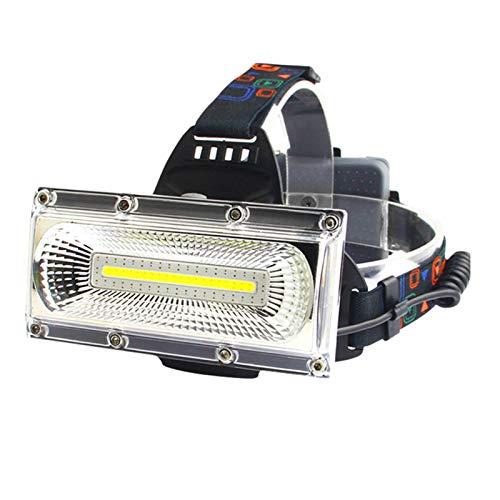 Linterna Frontal Led Lámpara de cabeza recargable de la cabeza de la cabeza de la cabeza del LED USB más potente Lámpara de cabeza blanca y roja y azul Luz de 3 Modo Faro de 3 Modo Iluminación de la c