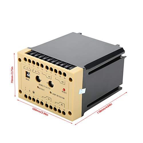 Changor Detector de vehículos de Grado Industrial Ajustable, cáscara de moldeo de retardo Ajustable de 0-4.5S y Metal para estacionamiento