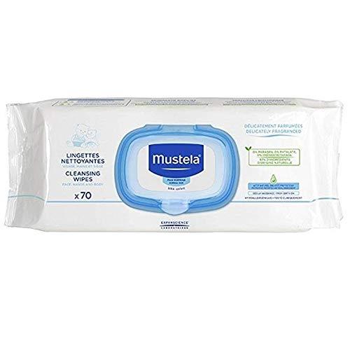 Mustela Toallitas de cambio de 12 paquetes x 70 unidades.