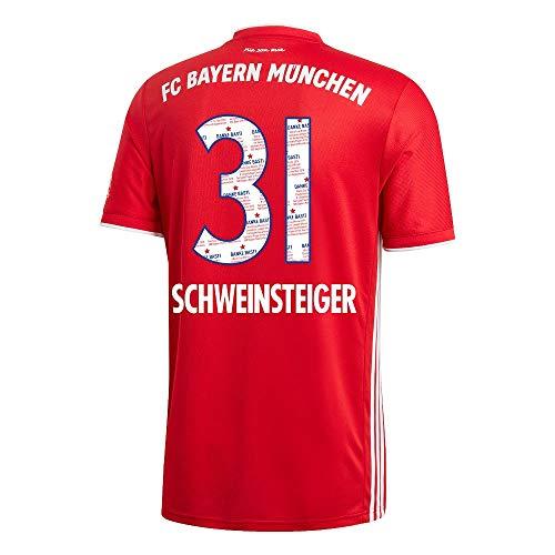 adidas Bayern München Home Schweinsteiger 31 Trikot 2020-2021 (Danke Basti) - S