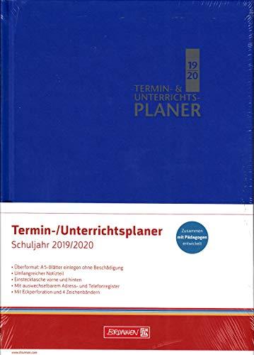 Brunnen Termin & Unterrichtsplaner - Lehrerkalender A4+ Schuljahr 2019-2020 - Blau 30 cm x 23,5 cm