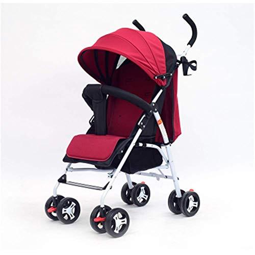 Poussette légère Baby Sport, dès la naissance, pliage Sit Lie Easy Trolley, 63x47x103cm (Couleur : Red)