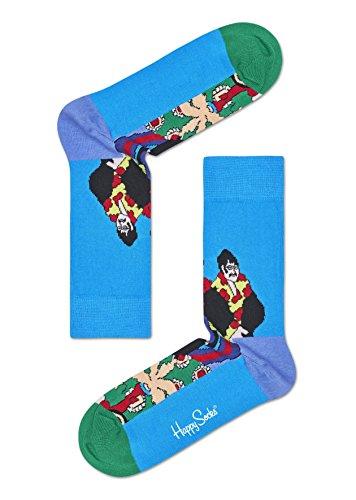 Happy Socks Unisex Beatles Pepperland Lässige Socken, Blau, 41-45