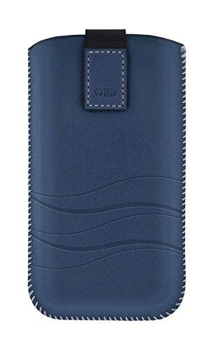 4-OK Up Premium - Funda para Samsung Galaxy SIII/S4/S5 Mini/Alpha, azul oscuro