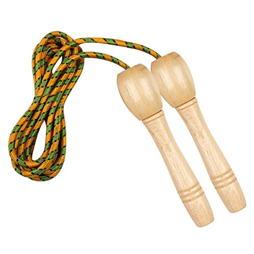Cotone corda salto,corda ANGTUO formazione filettata manico in legno per adulti