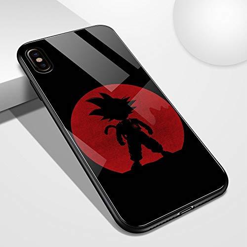 Carcasa de cristal templado para iPhone 6, 6S, 7, 8 Plus, X, XR, XS Max 11, 12, Pro Max, Mini manga (4, iPhone X/XS)