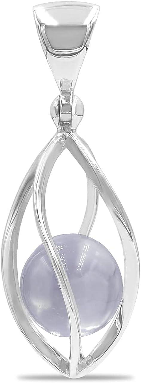 Starborn Spiral Baltimore Mall Cage Spasm price Pendant Gemstone with Sphere