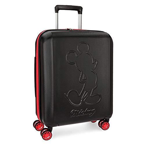Disney Mickey Colored Maleta de cabina Negro 40x55x20 cms Rígida ABS Cierre TSA 38L 3,1Kgs 4 ruedas dobles Extensible Equipaje de Mano