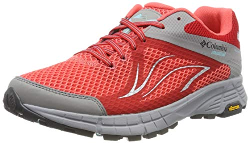 Columbia Femme Chaussures de Trail Running, Imperméable, MOJAVE TRAIL II OUTDRY, Taille 37.5, Rouge (Red Coral, Iceberg)
