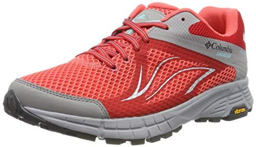 Columbia Mojave Trail II Outdry, Zapatillas de Running para Asfalto para Mujer, Rojo (Red Coral, Iceberg 633), 36.5 EU