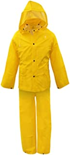 Boss 3PR0300YX Extra Large Yellow 3-Piece Lined PVC Rain Suit