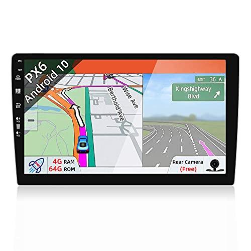 autoradio 8gb ram JOYX PX6 Android 10 Autoradio - 9 Pollice - 4G-RAM 64G-ROM - Telecamera GRATUITI - GPS 1 Din - Supporto Bluetooth-4.0/HDMI/4K-Video/AHD-Camera/DAB+/Controllo al Volante/WiFi/MirrorLink/Carplay/Google