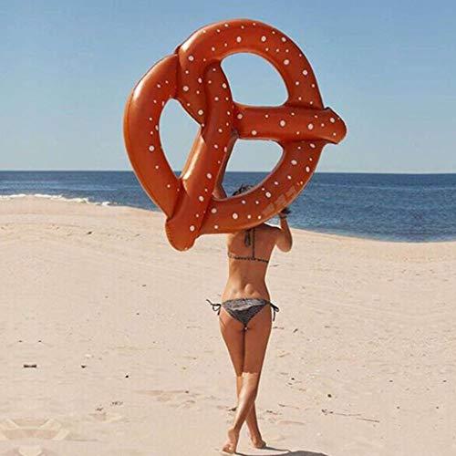 SuRose Große Brezel-Sich Hin- und Herbewegende Reihen-Insel-Strand-Floss-Jumbo-Schlauchboot-Floss-Liege-Swimmingpool-Luftmatte-Wasser-Sport-Spaß-Spielzeug-Floß
