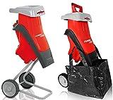 Grizzly Tools Elektro Messerhäcksler EMH 2440, Häcksler mit 2400 Watt Motor, Inkl. Stopfer und Fangsack