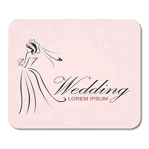 Muismat Amour Jurk Bruiloft Bruid Groom Lijn Adore Affectie Schoonheid mouses pad Mousepad