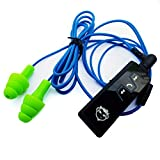 Bluetooth Workinbuds Green/Blue - Earplug Earphones with Jabees Wireless Headset (Bundle)