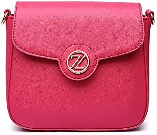 Zeneve London Laura Crossbody Bag For Women - Pink