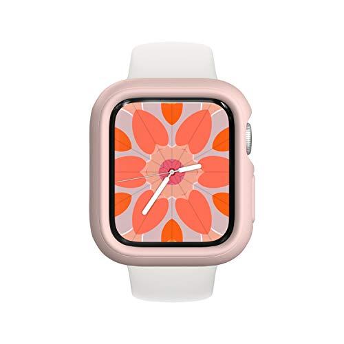 RhinoShield Coque Bumper Compatible avec Apple Watch Se & Séries 6/5 / 4 - [44mm] | CrashGuard NX - Protection Fine Personnalisable avec Technologie Absorption des Chocs - Rose Poudré