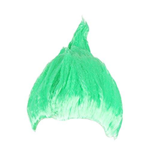Qinlee Flauschige Perücke Bunt Haarteil Frisuren Gestylten Cosplay Party Perücke Halloween Haarschmuck für Unisex (Grun)