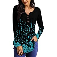 Mystry Zone Women's Long Sleeve Henley Blouse (various colors/sizes)