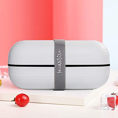 Devansi Lunchbox Brotdose Bento Box, Macaron Fashion Color Design Auslaufsichere Lunchbox mit 2 separaten Fächern, BPA-frei, Lunchbox geeignet für Kinder, Studenten und Büroangestellte