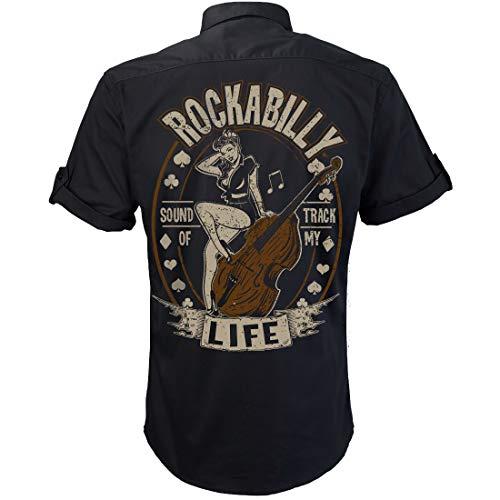 Worker Shirt, Rockabilly Hemd, Party Hemd, Soundtrack of My Life