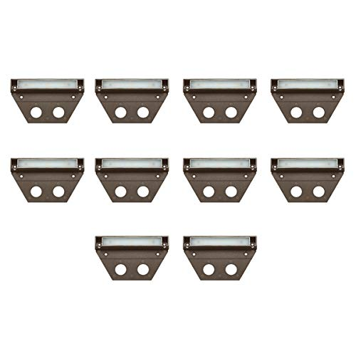 Hinkley Landscape Lighting NUVI Landscape Deck Light – Hardscape Light Highlights Important Hardscape Features and Surfaces and Increases Home Security - Medium Size, Bronze Finish (10 Pack)