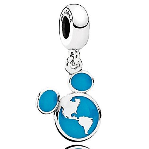 PANDORA Disney Mickey Vacation Club ICON Ear World Globe Disney Parks Charm