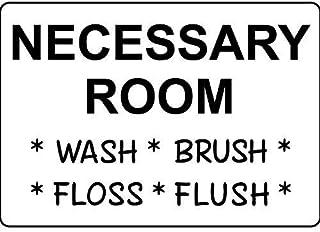 Hypothesis 20×30cm 看板 メタルサイン Necessary Room Wash Brush Floss Flush ウォールアート バー カフェ 壁の装飾 ヴィンテージ風 メタルプレート ブリキ