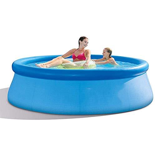 BIYLL Aufblasbarer Pool, Family Pool, Aufblasbares Swim Center Family Lounge, Schwimmbecken rechteckig Jugendliche und Erwachsene PVC Plastik Aufblasbare Badewanne für Garten und Outdoor