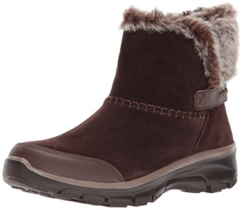 Skechers Women's Easy Going-Quantum Ankle Bootie,Chocolate,11 M US