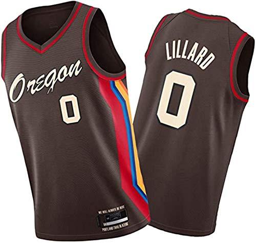 XIETARPAULIN Lillard Hood Kanter e Covington Basket Black Jersey, Blazer Team 20-21 Nuova Stagione Uomo Uniforme da Basket, Adatto per Le competizioni di Formazione (Size : XXL)