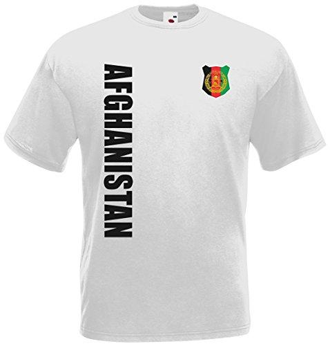 Afghanistan WM-2022 T-Shirt Trikot Wunschname Nummer Weiß M