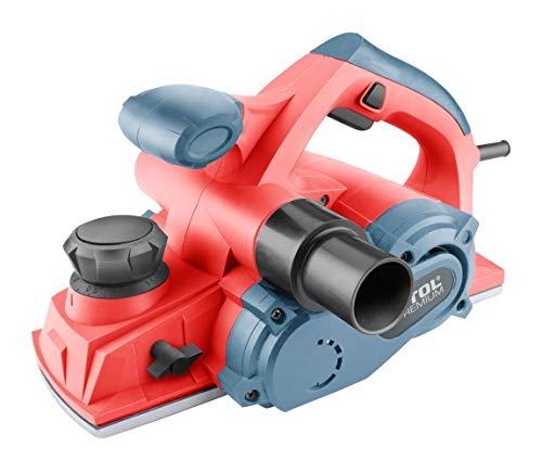 Extol Premium 8893405 Elektrohobel, Breite: 110mm, 1000W, bis 3mm Spantiefe, Parallelanschlag, 2 Rillen zum Anfasen, Staubfang, Hobel