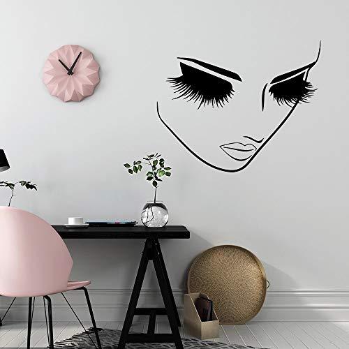 WERWN Salón de Belleza Etiqueta de la Pared de pestañas Papel Pintado de Maquillaje Etiqueta de Peinado Salón SPA Decoración