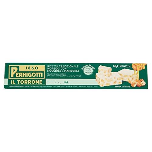 Pernigotti Torrone Bianco Morbido con Nocciola e Mandorla - 150 gr
