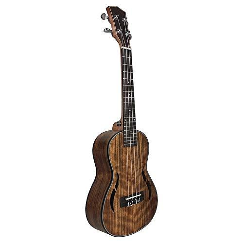 PNLD 26 Zoll Ukulele Walnussholz Tenor Ukulele 18 Fret Akustikgitarre Ukelele Mahagoni Griffbrett Hals Hawaii 4 String Guitarra (Farbe : Drak Brown)