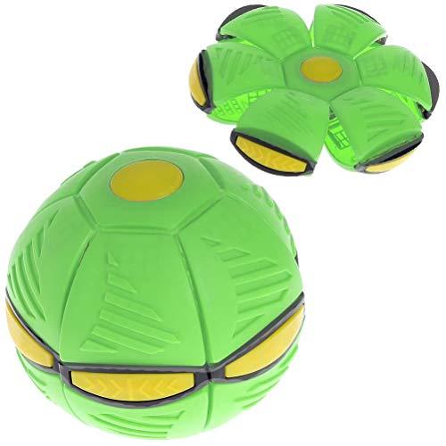 1 pieza de disco volador bola plana juguete deformable descompresión juguete bola con 6 luces para niños actividades al aire libre playa picnic