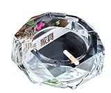 Cendrier octogonal en cristal durable pour cigarettes - Accessoires de fumage - 15 cm
