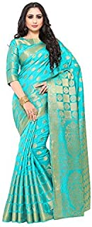 KUPINDA Kuppdam Style Artificial Silk Saree Color: Turquoise (4177-194-SD-SAFFIRE)