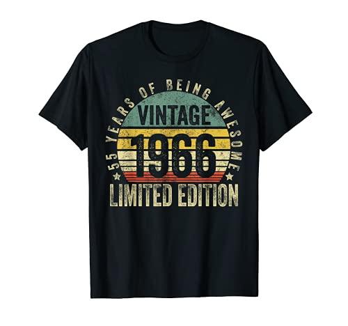 55 Year Old Legendary Retro Vintage Awesome Birthday 1966 Camiseta